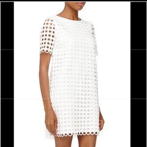 Catherine Maladrino White eyelet lace dress- sz8